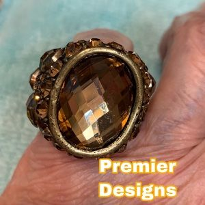 Antique gold finish ring